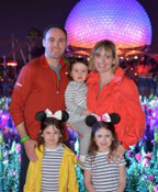 Family in Disney World