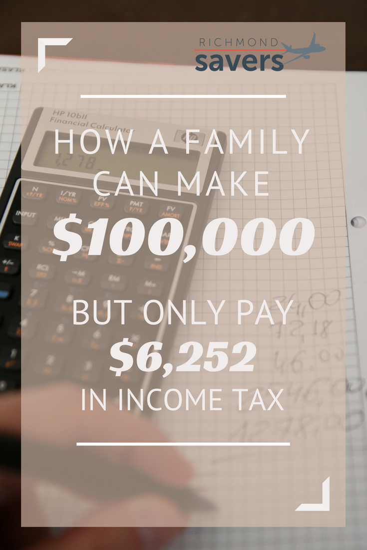 How A Family Of Four With A $100,000 Yearly Income Pays