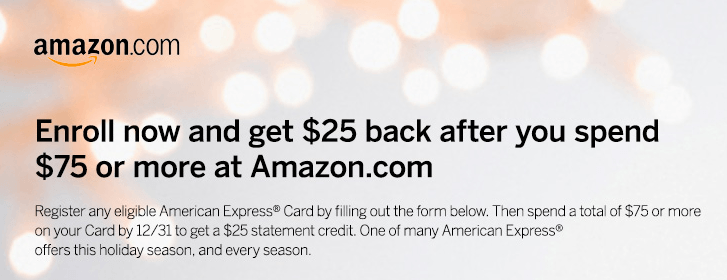 Amex Amazon Enrollment Screen