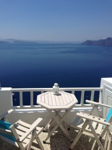 The View From Our Balcony in Santorini