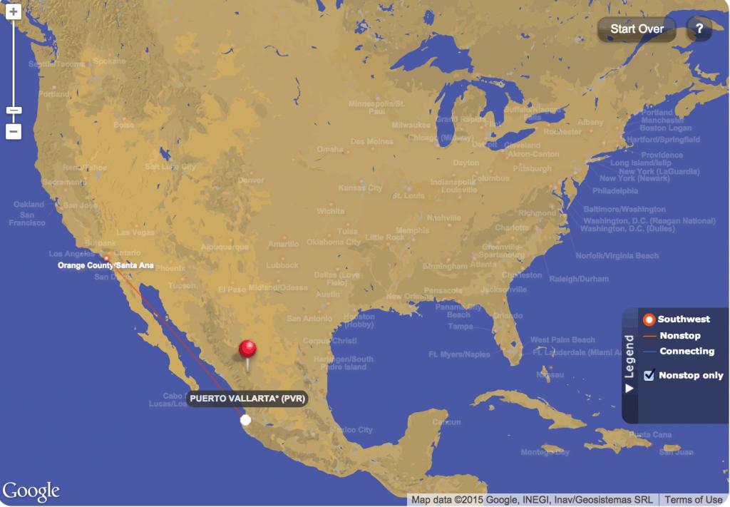 Puerto Vallarta Southwest Interactive Travel Map
