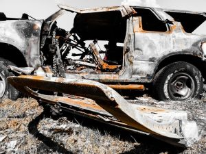 totaled car