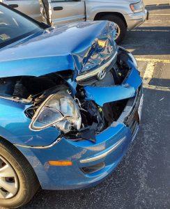 Totaled car damage