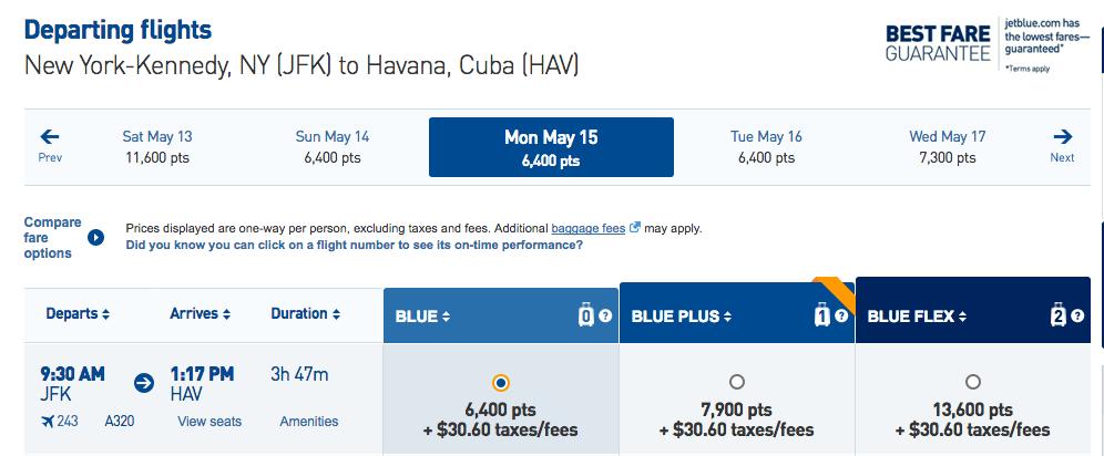 Jetblue to Cuba