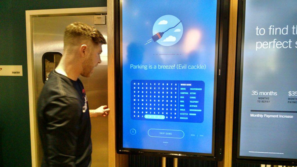 Cafe touchscreen