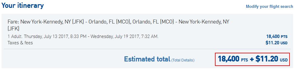 JetBlue New York to Orlando