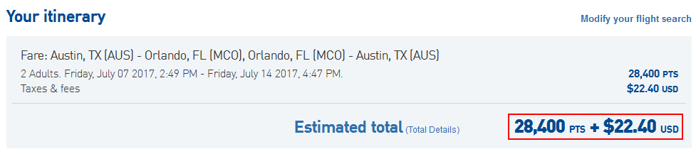 Jet Blue Austin to Orlando