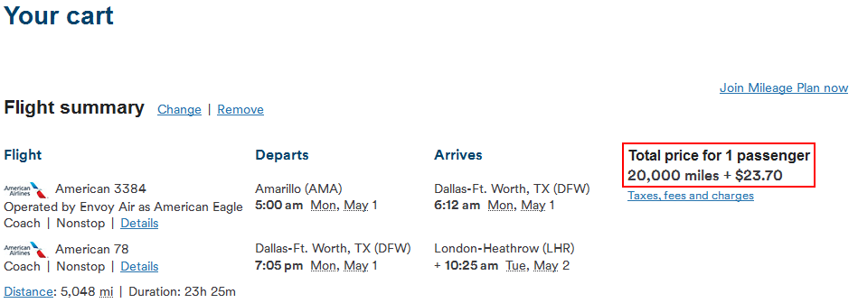 Alaska Airlines to London