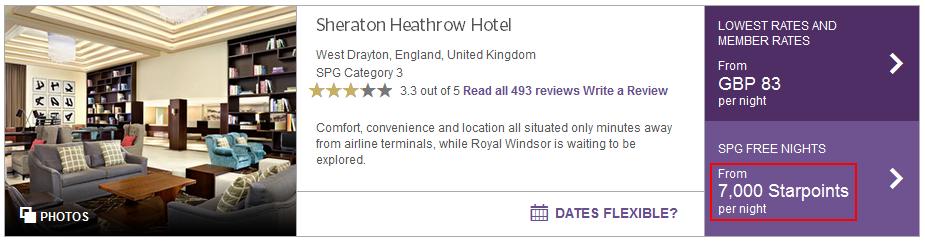 Starwood London airport second option