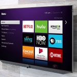 Roku Home Screen on HDTV