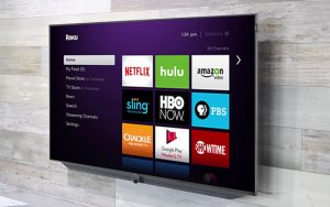 Roku Home Screen on HDTV